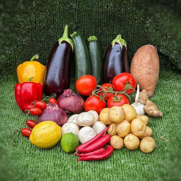 Box of Mediterranean vegatables